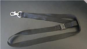 Plain Black Lanyard