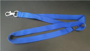 Plain Blue Lanyard