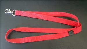 Plain Red Lanyard